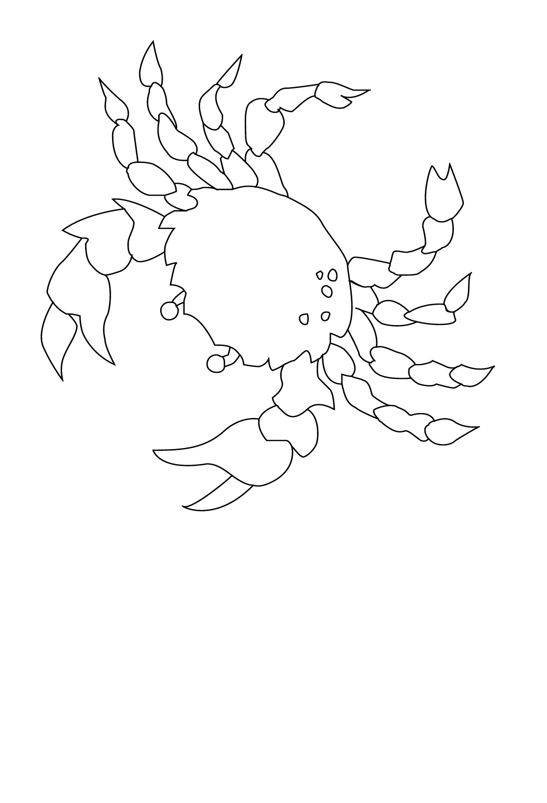 Bộ sưu tập tranh tô màu con cua cho bé khám phá thế giới đại dương 31