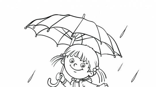 Tổng hợp tranh tô màu trời mưa giúp bé phân biệt hiện tượng thời tiết