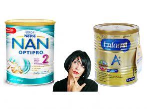 So sánh sữa Nan và Enfamil ưu nhược điểm từng loại sữa ?