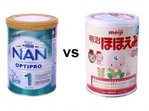 So sánh sữa Nan và Meiji về giá và khả năng phát triển của trẻ