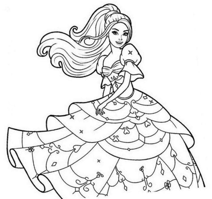 Tải 15 Bức Tranh Tô Màu Công Chúa Barbie được Các Bé Yêu